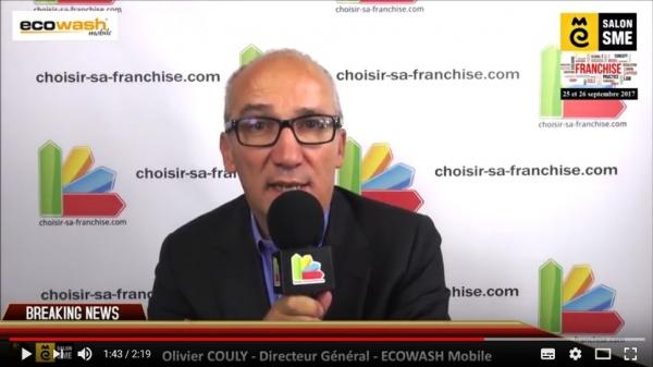 Franchise ECOWASH mobile - Interview d'Olivier COULY au Salon SME 2017