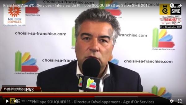 Franchise Age d'Or Services - Interview de Philippe SOUQUIERES au Salon SME 2017