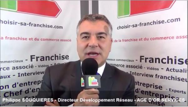 Interview de Philippe SOUQUIERES - Directeur développement réseau de la franchise AGE D'OR SERVICES
