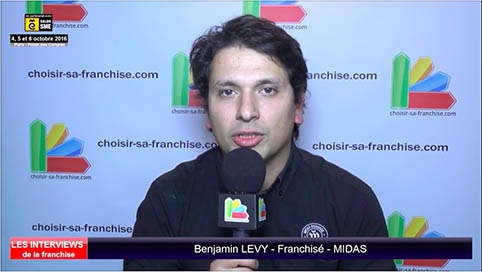 Interview de Benjamin LEVY, franchisé Midas au salon SME Paris 2016