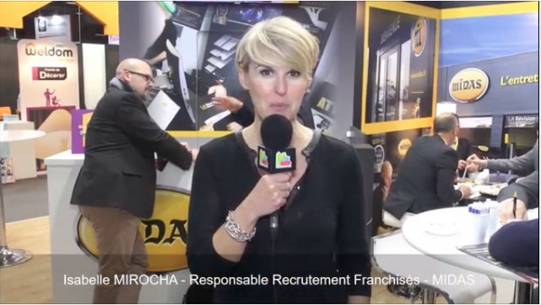 Interview d'Isabelle MIROCHA, Responsable Recrutement Franchisés pour la franchise MIDAS au salon Franchise Expo Paris 2017