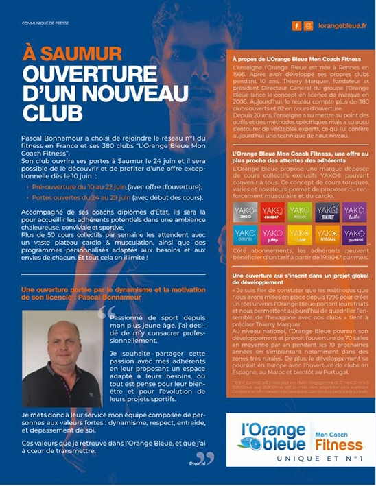 Actualite De La Franchise L Orange Bleue Ouverture De Sa