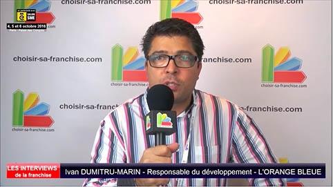 Interview d'Ivan Dumitru-marin, responsable du développement de la franchise l'Orange Bleue au salon SME Paris 2016