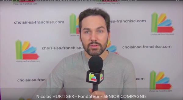 Interview de Nicolas Hurtiger, Fondateur du réseau de franchise SENIOR COMPAGNIE au salon Franchise Expo Paris 2016