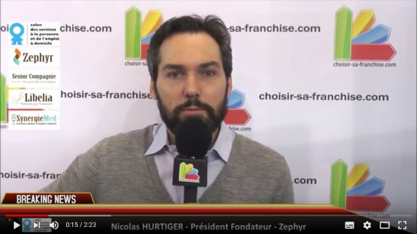 Interview de la franchise Senior Compagnie du Groupe Zephyr au Salon des Services à la Personne
