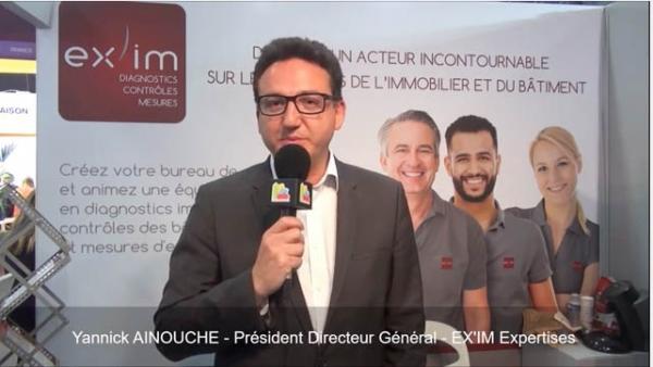 Interview de Yannick AINOUCHE, Président Directeur Général de la franchise EX'IM Expertises au salon Franchise Expo Paris 2017