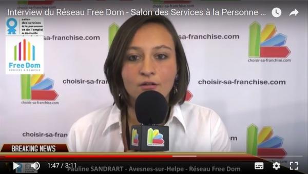 Interview du Réseau Free Dom au Salon des Services à la Personne