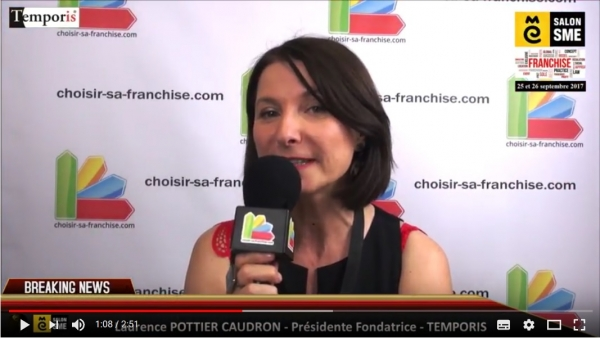 Franchise Temporis - Interview de Laurence POTTIER CAUDRON au Salon SME 2017