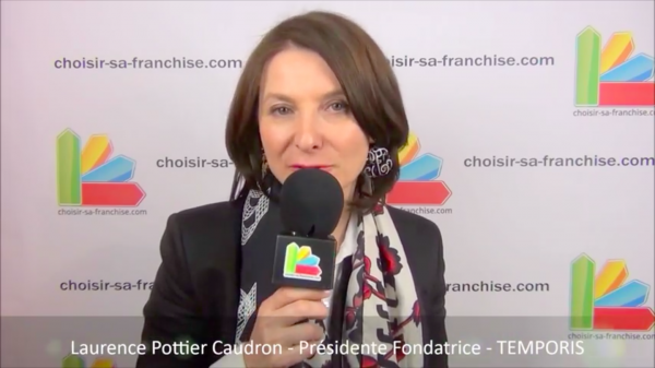Interview de Laurence Pottier Caudron, Présidente Fondatrice du réseau de franchise Temporis au salon Franchise Expo Paris 2016