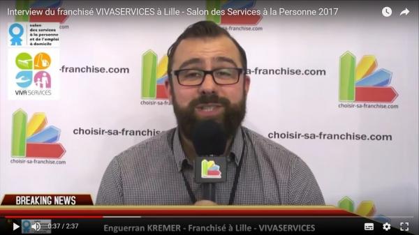 Interview du franchisé VIVASERVICES Lille au Salon des Services à la Personne