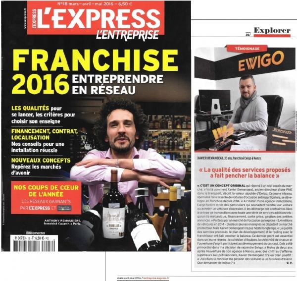 ewigo nouvel article dans l 39 express choisir sa franchise. Black Bedroom Furniture Sets. Home Design Ideas
