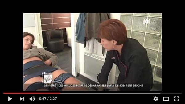 Reportage M6 sur un appareil de la franchise Relooking Beauté Minceur