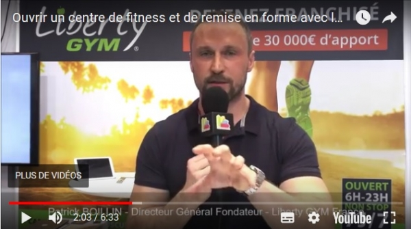 Interview de Patrick BOILLIN, Directeur Général Fondateur de la franchise Liberty GYM au salon Franchise Expo Paris 2017