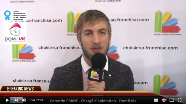 Interview de la franchise Dom&Vie au Salon des Services à la Personne