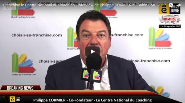 Franchise le Centre National du Coaching - Interview de Philippe CORMIER au Salon SME 2017