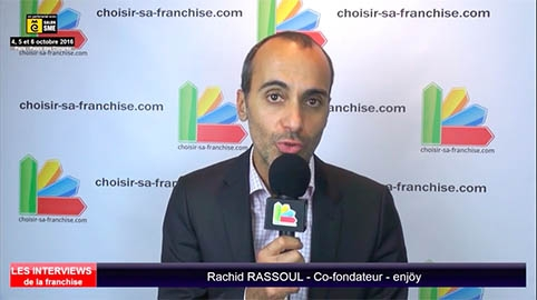 Interview de Rachid RASSOUL, co-fondateur de la franchise enjöy au salon SME Paris 2016