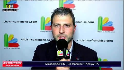 Interview de Mickaël COHEN, cofondateur de la franchise Axeavita au salon SME Paris 2016
