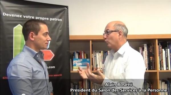 Interview d'Alain Bosetti - Président du Salon des services à la personne