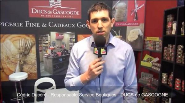 Interview de Cédric Ducéré, Responsable Service Boutiques de la franchise DUCS de GASCOGNE au salon Franchise Expo Paris 2017