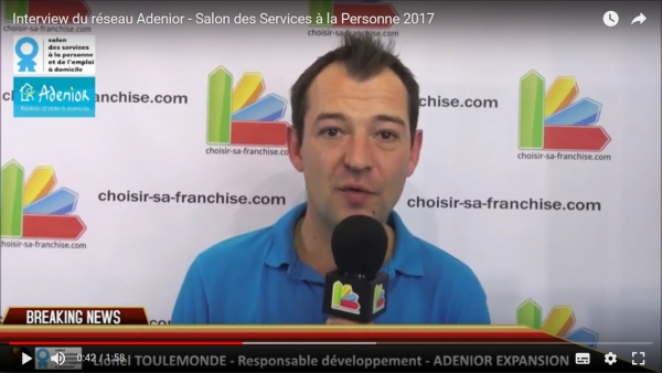 Interview de la franchise Adenior au Salon des Services à la Personne