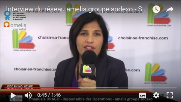 Interview de la franchise amelis groupe sodexo au Salon des Services à la Personne