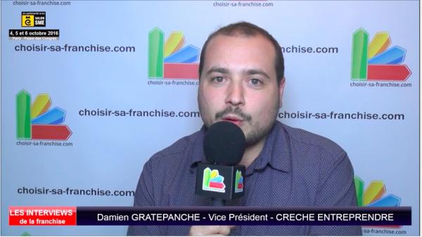 Interview de Damien GRATEPANCHE, Vice Président de la franchise Crèche Entreprendre au salon SME Paris 2016