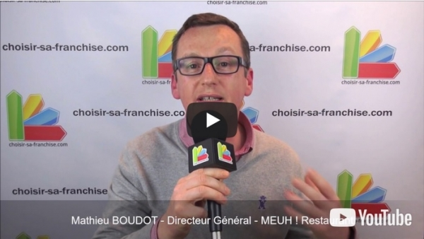 Interview de Mathieu BOUDOT, Directeur Général de la franchise MEUH ! au salon Franchise Expo Paris 2017