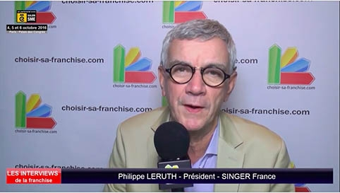 Interview de Philippe LERUTH, Président de la franchise Singer France au salon SME Paris 2016