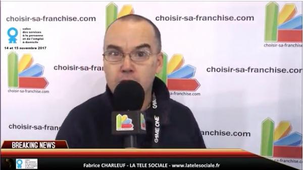 Fabrice CHARLEUF, La Télé Sociale, au micro de choisir sa franchise pour la semaine du Handicap