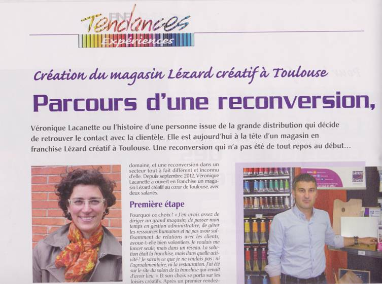 Franchise l zard cr atif article pnp lezard creatif for Salon de la franchise toulouse
